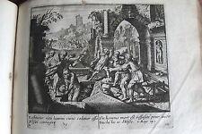 C21-k Gravure religieuse 17e un homme mort est ressucité pour avoir touché