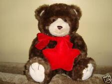 Gund Teddy Bear Large Musical Plush Bear With Red Star