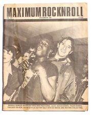 Vtg December 1988 Maximum Rock N Roll Punk Rock Music Zine Magazine No. 67