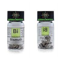Bismuto metallo elemento 83 Bi - puro 99,99% 10 grammi in fiala + etichetta