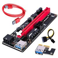 Extender Riser Card Adapter USB3.0 1x to 16x S-ATA 4Pin Power Cable PCI-E Expre