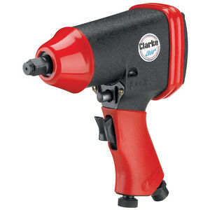 "Clarke CAT110 1/2"" Air Impact Wrench Torque 230ft/lb speed 7000rpm 90psi 6.2 Bar"