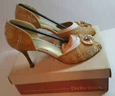 Woman's High heels by Delicious color Champagne Thai size 8