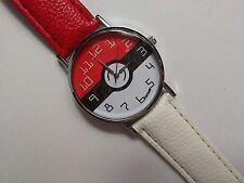 ADULT / TEEN POKEMON / POKEBALL Quartz Watch with Red and White Strap
