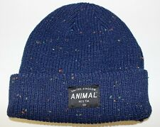 ANIMAL Mens Dark Navy Knitted Beanie One Size Brand New With Tags