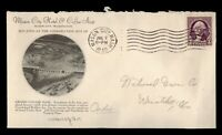DR WHO 1940 MASON CITY WA HOTEL ADVERTISING GRAND COULEE DAM CACHET  f96493