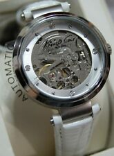 Kenneth Cole KC2555 Women's CROC Strap Skeleton Automatic DIAMOND watch