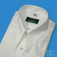 Spear point collar Men Vintage White stripe shirt Cotton Loose Dagger Goodfellas