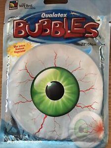 Qualatex 22in Bubble Eyeball Design Uninflated Helium Plastic Balloon. New