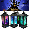 Halloween Vintage Pumpkin Castle Light Lamp Party Hanging Decor LED Lantern 2019