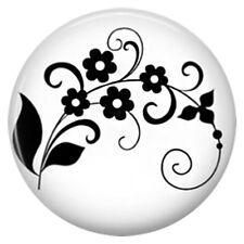 Button Click Klicks 5390 Ranke Blumen EMAILLE- für Chunk Armband