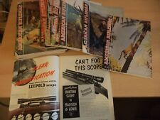 24 AMERICAN RIFLEMAN OLD VINTAGE 1950S SHOOTING HUNTING GUN RIFLE MAGAZINES LOT