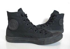 Ladies CONVERSE Triple Black Hi-Top Trainers Boots Size U.K 5 Good Cond