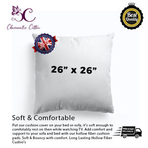 """Cushion Pads Inners Fillers Inserts 26""""x26""""Inch HollowFibre Corvin Polypropylene"""