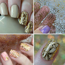 1 Sheet Embossed 3D Nail Art Sticker Blooming Flower Decal Tips Decoration DIYVW