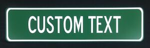 """Custom Text Aluminum Street Signs 24"""" x 6"""" - Display-Gift-Home-Business izable"""