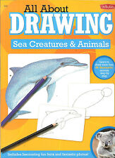 Walter Foster All About  Drawing Sea Creatures & Animals, 40 animals, NEW PB