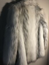 Womens Fur Coat Size White Exotic Look