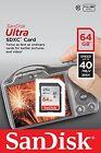 SanDisk 64GB Ultra SDXC SDHC SD Flash Memory Card Class 10 40MB/s 266x Full HD