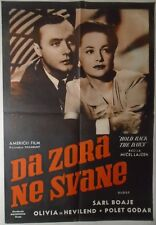 HOLD BACK THE DAWN Olivia de Havilland Charles Boyer 1941 RARE YUGO MOVIE POSTER