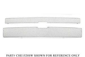GrillCraft Chrome Stainless Mesh Grille Kit - Chevrolet Silverado 2500 3500 HD