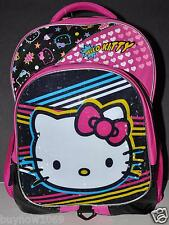 """HELLO KITTY BACKPACK 16"""" BAG TOTE  GIFT NWT SCHOOL LARGE BOOK BAG WITH HOODIE"""