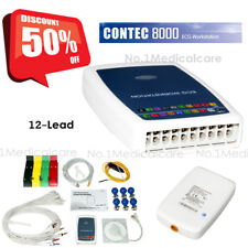 Contec8000g12 Lead Resting Ecgekg System Workstation Machine Recorder Software
