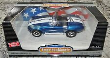 American Muscle Ford Shelby Cobra 427 S/C 1/18 Blue White Ertl Car  7346/7386