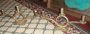 Restoration Hardware Candlestick Holders Pair India Artistic Design Silver Metal