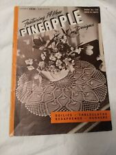 Clark's Ont J&P Coats 1946 Book #230 14 Pineapple Designs Doilies Tablecloths