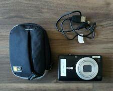 Canon PowerShot A4000 IS 16.0 MP 8X Optical Zoom Digital Camera - Black w/case