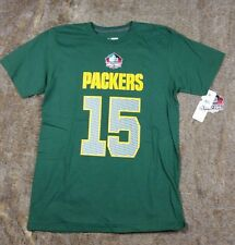 NFL Team Apparel Green Bay Packers Bart Starr 15 Size M Hall Of Fame T-Shirt s2
