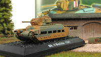 Scale model tank 1:72  Mk. II Matilda