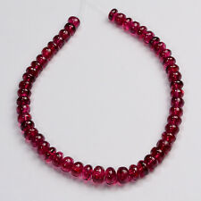 4.7mm-6mm Natural Ruby Red Spinel Smooth Rondelle Beads 6.5 inch Strand