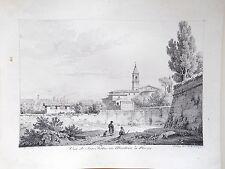 Rare Lithographie originale de Constant Bourgeois - 1819 - San Pietro - Rome
