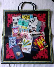 More details for elton john 17 tour passes & stickers with genuine versace paper bag.