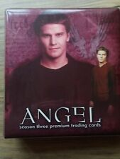 ANGEL Season 3 Binder with Base Set,Chase Cards,2 Pieceworks & 3 Autograph Cards