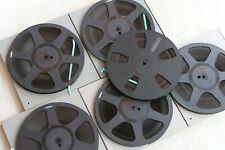 - 6x reVox Novodur 26,5cm Tonbandspulen - mit Schubern - Kunststoffspulen -