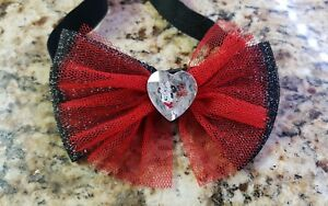 Disney Minnie Mouse Headwrap Black and Red Bow NEW