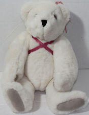 Vermont Teddy Bear Company WHITE WINGED ANGEL JOINTED Legs Arms Neck PLUSH TOY