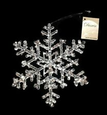 Christmas Tree Hanging Decorations Snowflake Xmas Festive Frozen Transparent