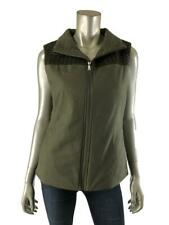 Prana S Vest Womens Olive Green Military Zipper Front Sleeveless Jacket Small