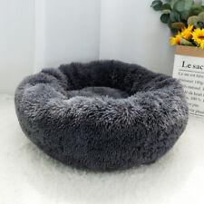 Grey Pet Dog Cat Calming Bed Comfy Shag Warm Fluffy Nesting Bed Mattress Fur Mat