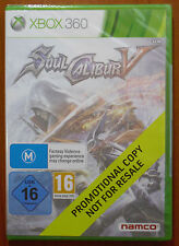 SoulCalibur V (Soul Calibur 5) Promotional Promo Copy, Xbox 360, PAL, NEW SEALED