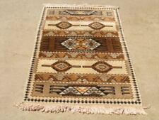 "Vintage Southwest Design Mid Century Scandinavian Rya Rug 34x62"" Wool on Cotton"