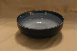 "Sango Nova Blue Stoneware Coupe Cereal Bowl 6 3/8"" Across #4934 Good Condition"