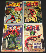 Marvel Silver Age DAREDEVIL 8pc Count Mid Grade Comic Lot FN- to FN+ Netflix