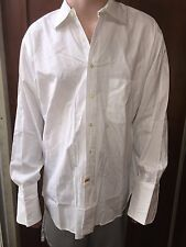 Burberrys of London Men's White French Cuff Dress Shirt   Size 16-33 Cotton  M