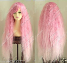 Hot Sell! New Popular Lolita New Cosplay Long Curly Pink mix Cosplay wig