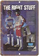 "10"" x 7"" Metal Sign - HARO BMX Racing Gear Ad - Vintage Look Reproduction"